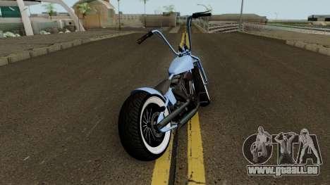 Western Motorcycle Zombie Bobber GTA V für GTA San Andreas rechten Ansicht