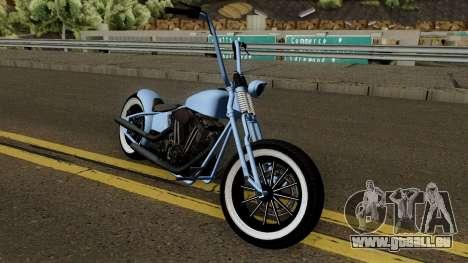 Western Motorcycle Zombie Bobber GTA V für GTA San Andreas Innenansicht
