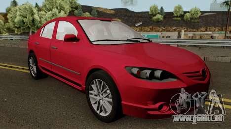 Mazda 3 für GTA San Andreas Innenansicht