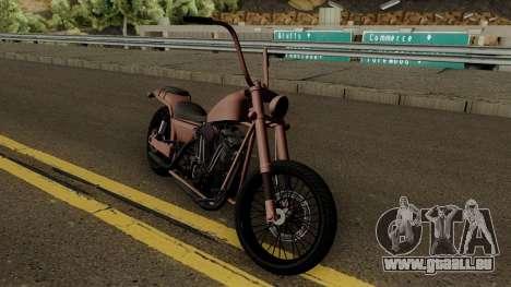 Western Motorcycle Daemon GTA V für GTA San Andreas Innenansicht
