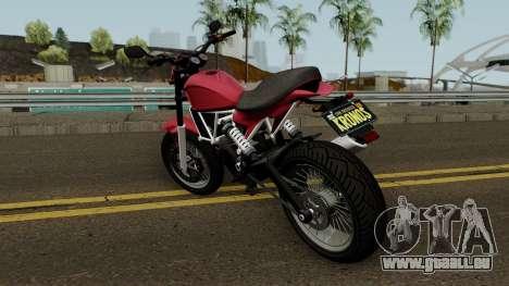 Pegassi Esskey GTA V für GTA San Andreas zurück linke Ansicht