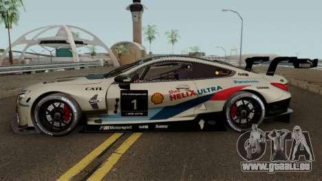 BMW M8 GTE 2018 für GTA San Andreas linke Ansicht