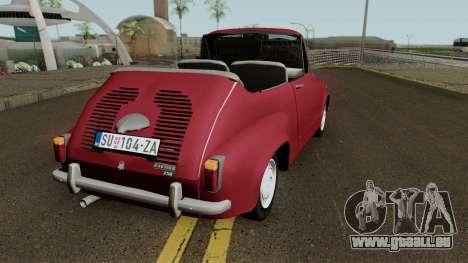 Zastava 750 Cabrio pour GTA San Andreas vue de droite