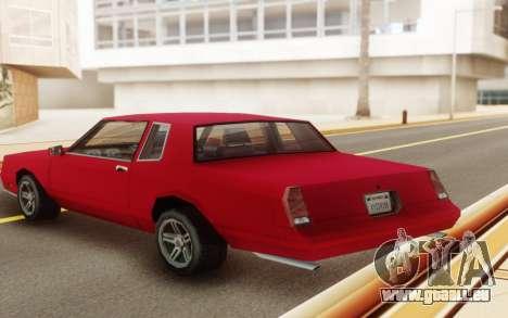 Chevrolet Monte Carlo 1988 für GTA San Andreas Rückansicht