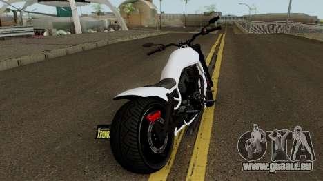 Western Motorcycle Nightblade GTA V für GTA San Andreas rechten Ansicht