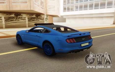 Ford Mustang GT 2018 für GTA San Andreas Rückansicht