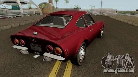Opel GT 1900 1968 (US-Spec) pour GTA San Andreas vue de droite