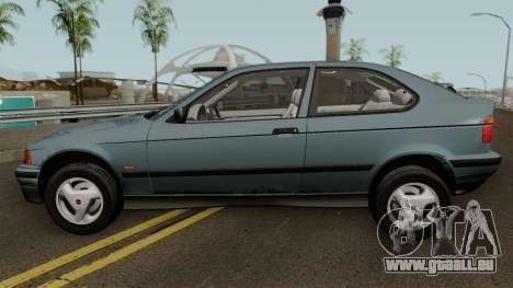 BMW 3-Series e36 Compact 318ti 1995 (US-Spec) pour GTA San Andreas laissé vue