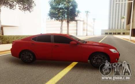 Lexus IS 250 V6 für GTA San Andreas rechten Ansicht