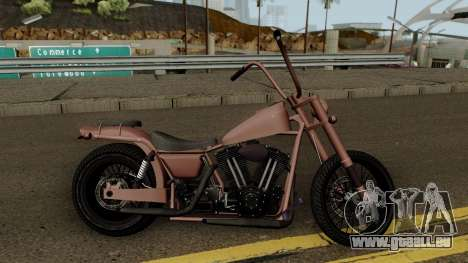 Western Motorcycle Daemon GTA V für GTA San Andreas Rückansicht