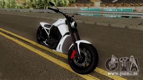 Western Motorcycle Nightblade GTA V für GTA San Andreas Innenansicht