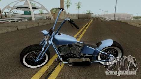 Western Motorcycle Zombie Bobber GTA V für GTA San Andreas linke Ansicht