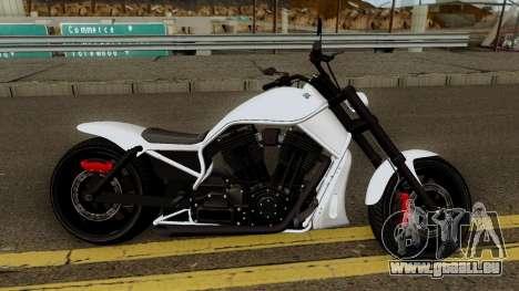 Western Motorcycle Nightblade GTA V für GTA San Andreas Rückansicht