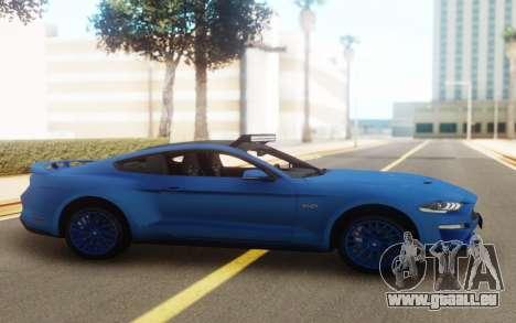 Ford Mustang GT 2018 für GTA San Andreas zurück linke Ansicht