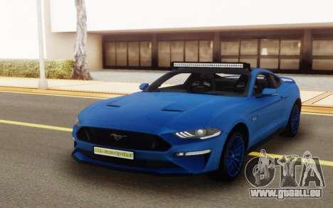 Ford Mustang GT 2018 für GTA San Andreas rechten Ansicht