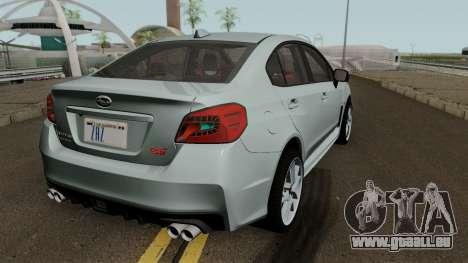 Subaru WRX STI 2016 pour GTA San Andreas vue de droite