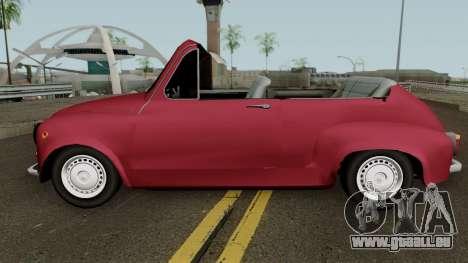 Zastava 750 Cabrio pour GTA San Andreas laissé vue
