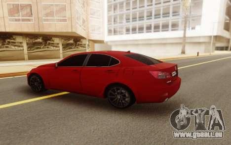 Lexus IS 250 V6 für GTA San Andreas linke Ansicht