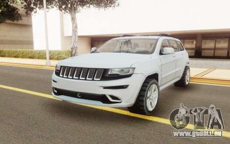 Jeep Grand Cherokee SRT 2014 für GTA San Andreas zurück linke Ansicht