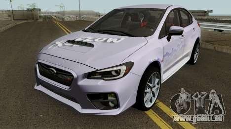 Subaru WRX STI 2016 pour GTA San Andreas vue de dessous