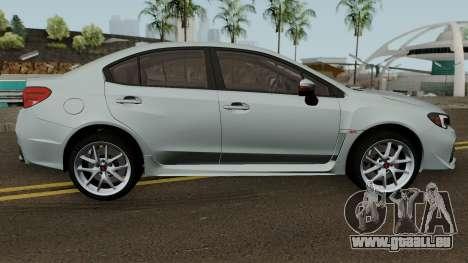 Subaru WRX STI 2016 pour GTA San Andreas vue arrière