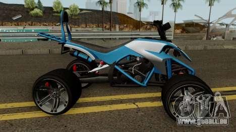 Nagasaki Streer Blazer GTA V für GTA San Andreas Rückansicht