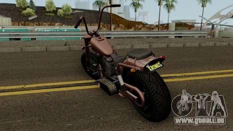 Western Motorcycle Daemon GTA V für GTA San Andreas zurück linke Ansicht