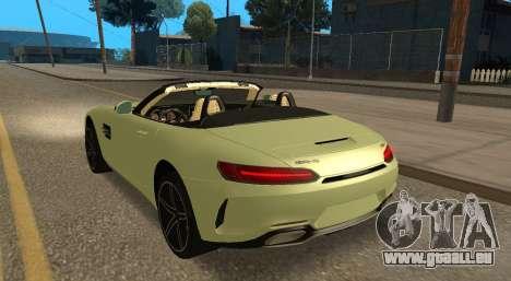 Mercedes-Benz GT-C pour GTA San Andreas vue intérieure