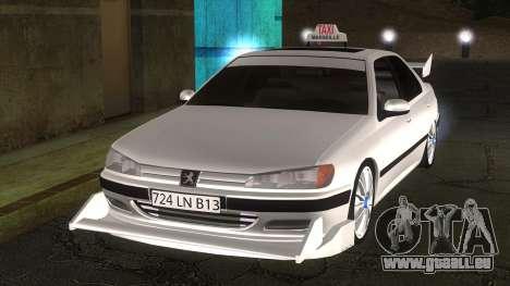 Peugeot 406 Taxi Marselle v2.5 für GTA San Andreas