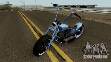 Western Motorcycle Zombie Bobber GTA V für GTA San Andreas