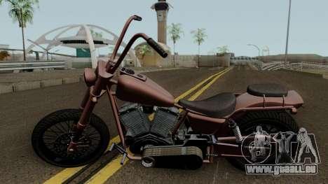 Western Motorcycle Daemon GTA V für GTA San Andreas linke Ansicht