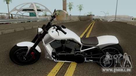 Western Motorcycle Nightblade GTA V für GTA San Andreas linke Ansicht
