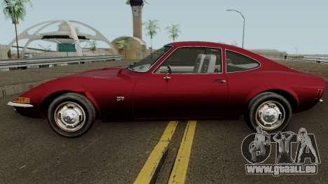 Opel GT 1900 1968 (US-Spec) pour GTA San Andreas laissé vue