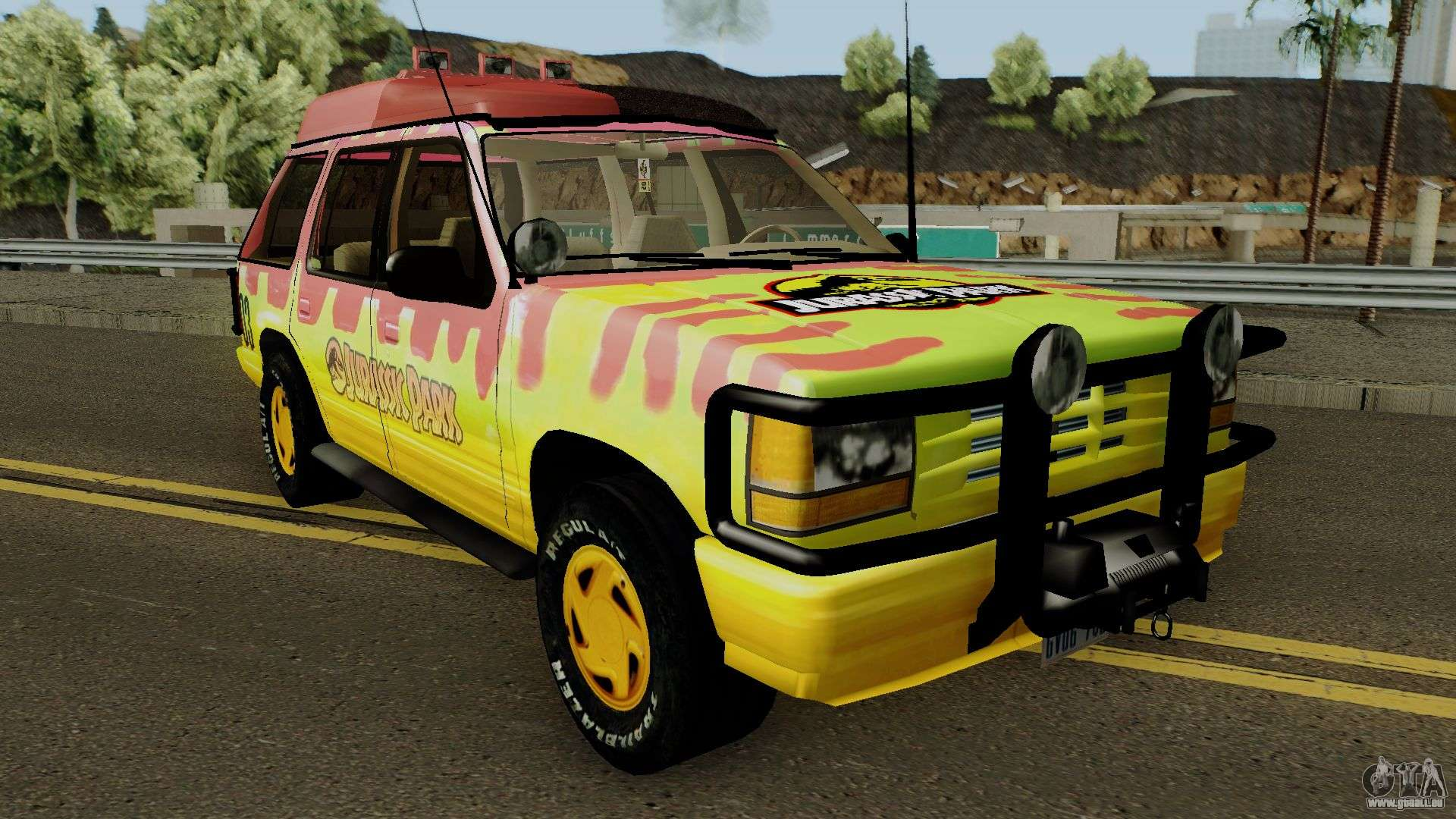 7 Inspiring Kid Room Color Options For Your Little Ones: Jurassic Park V2 Pour GTA San Andreas