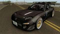 Mazda RX-7 FD3s Touge Warior - Black Brother für GTA San Andreas