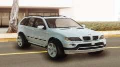 BMW X5 White Stock pour GTA San Andreas