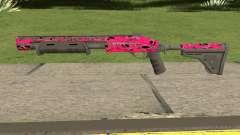 Rifle GTA V Online Pink Skull Livery