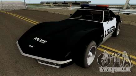 Chevrolet Corvette C3 Stingray Police LSPD pour GTA San Andreas