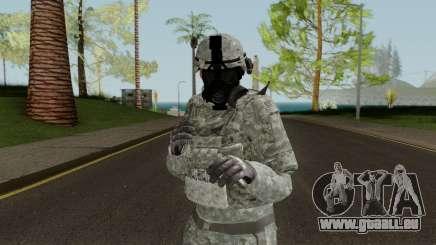 US Army ACU Skin (Gasmask) pour GTA San Andreas