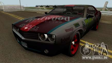 Dodge Challenger SRT Redwood (Gauntlet) 2012 pour GTA San Andreas