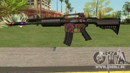 Rainbow M4 für GTA San Andreas