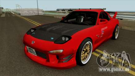 Mazda RX-7 FD3s Touge Warrior Red Brother pour GTA San Andreas