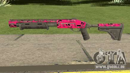 Rifle GTA V Online Pink Skull Livery für GTA San Andreas