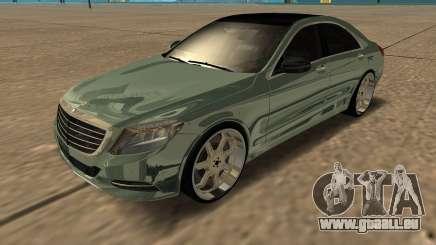 Mersedes-Benz S63 W222 Bulkin Amoral pour GTA San Andreas