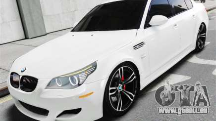 BMW M5 E60 White Stock für GTA 4