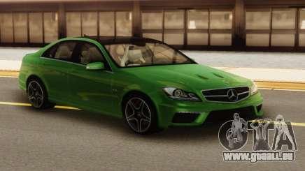 Mercedes-Benz C63 AMG Green pour GTA San Andreas