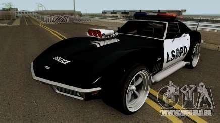 Chevrolet Corvette C3 Stingray Police LSPD V2 für GTA San Andreas