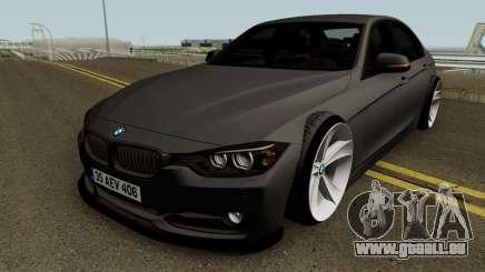 BMW M3 F30 HQ pour GTA San Andreas