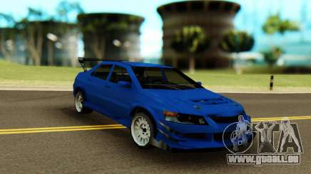 Mitsubishi Evolution 9 Blue für GTA San Andreas