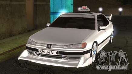 Peugeot 406 Taxi Marselle v2.5 pour GTA San Andreas